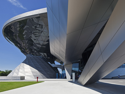 Main Entrance to BMW Welt (BMW World) , Multi-Functional Customer Experience and Exhibition Facilit Stretched Canvas Print