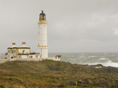 The Lighthouse on Corsewall Point on the Rhins of Galloway, Scotland, UK Stretched Canvas Print