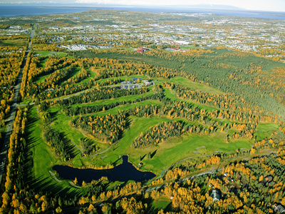 Moose Run Golf Course, Arctic Valley, Fort Richardson, Anchorage Stretched Canvas Print