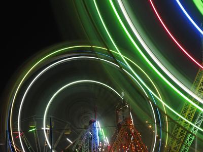 Amusement Rides, Pushkar Fair, India Stretched Canvas Print