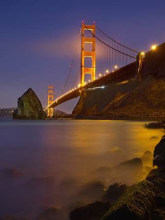 The Color of the Golden Gate Bridge Stretched Canvas Print