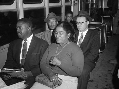 MLK Abernathy Ride Bus 1956 Stretched Canvas Print