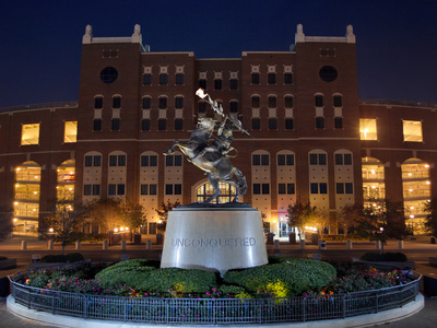 Florida State University - Chief Osceola Statue Stretched Canvas Print