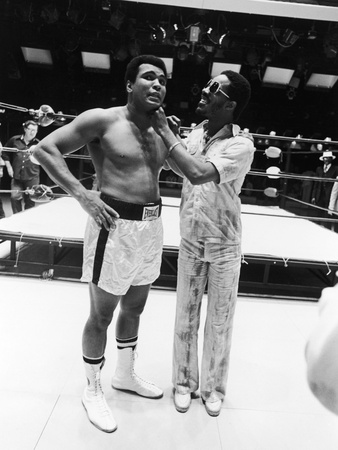 Muhammad Ali and Stevie Wonder, 1975 Stretched Canvas Print