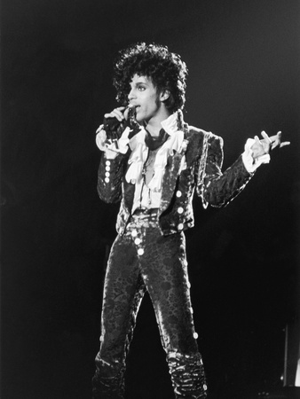 Prince, Purple Rain Tour, 1984 Stretched Canvas Print