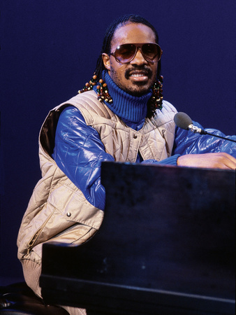 Stevie Wonder Performs, January 1980 Stretched Canvas Print