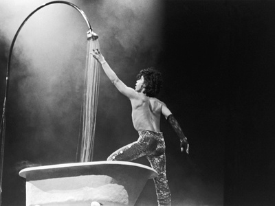 Prince,E Simulates a Shower During Concert Performance, 1984 Stretched Canvas Print