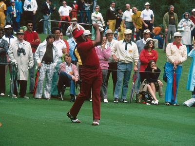 Professional Golfer Lee Elder,  Masters on April 13, 1975 Stretched Canvas Print