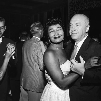 Pearl Bailey and Otto Preminger, 1954 Stretched Canvas Print