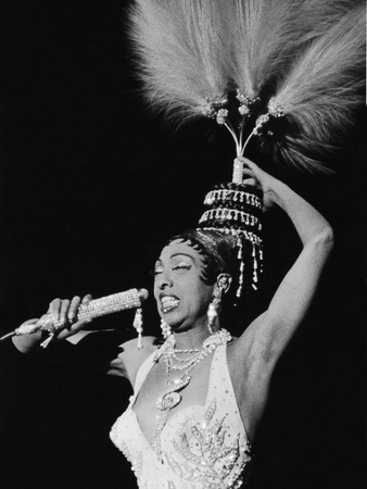 Josephine Baker, Chicago's Regal Theater, February 1960 Stretched Canvas Print