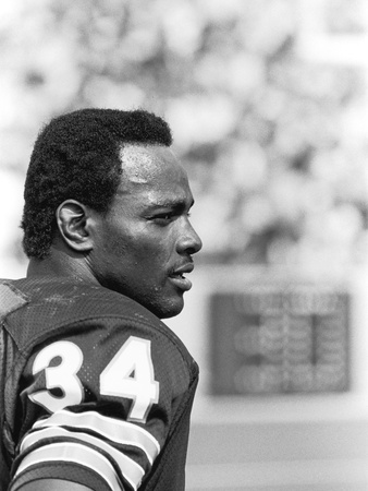 Walter Payton, 1979 Stretched Canvas Print