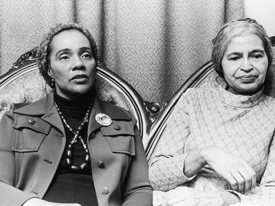 Coretta Scott King and Rosa Parks Stretched Canvas Print