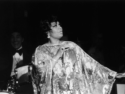 Legendary Performer Pearl Bailey Dazzles Her Audience, 1975 Stretched Canvas Print