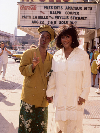 Patti Labelle and Phyllis Stickley Team Up for a Show at New York's Apollo Theater,  Aug 22, 1991 Stretched Canvas Print