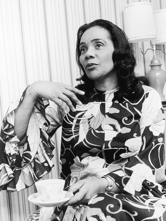 Civil Rights Leader Coretta Scott King, Montgomery Bus Boycott Anniversary Event, 1975 Stretched Canvas Print
