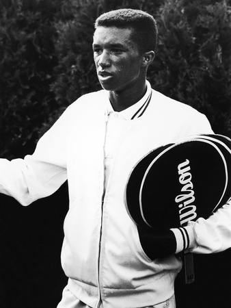 Tennis Pro Arthur Ashe, 1963 Stretched Canvas Print