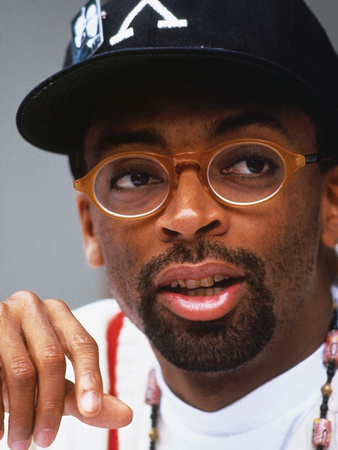 Filmmaker Spike Lee, Press Conference Regarding His New Film on the Life of Malcolm X Stretched Canvas Print