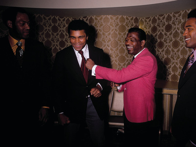 Muhammad Ali Jokes with Famous Athletes, January of 1971 Stretched Canvas Print