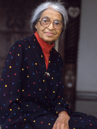 Rosa Parks, &quot;Mother of the Civil Rights Movement&quot;, 1995 Stretched Canvas Print