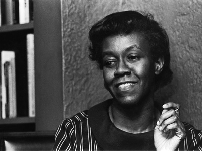 Renowned Poet Gwendolyn Brooks, May 1968 Stretched Canvas Print