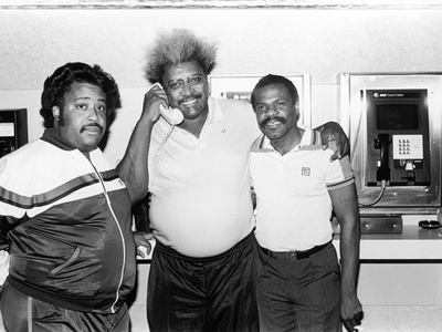 Activist Al Sharpton, Boxing Promoter Don King, and Singer Billy Preston, 1988 Stretched Canvas Print