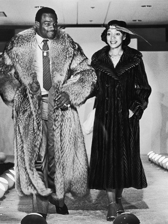 Walter and Connie Payton Model Furs in a Fashion Show Benefiting Better Boys Foundations,  1979 Stretched Canvas Print