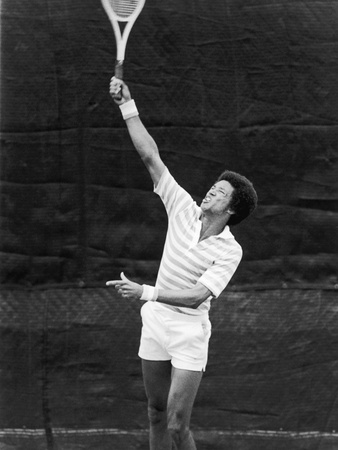 Tennis Pro Arthur Ashe, July 1975 Stretched Canvas Print