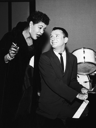 Legendary Blues Vocalist Billie Holiday, Bobby Troup, 1956 Stretched Canvas Print