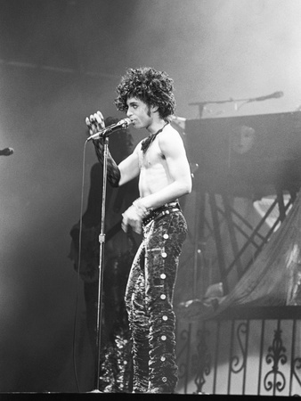 Prince, Shirtless During Concert, 1984 Stretched Canvas Print