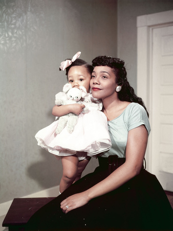 Coretta Scott King, Baby Daughter Yolanda King, 1958 Stretched Canvas Print