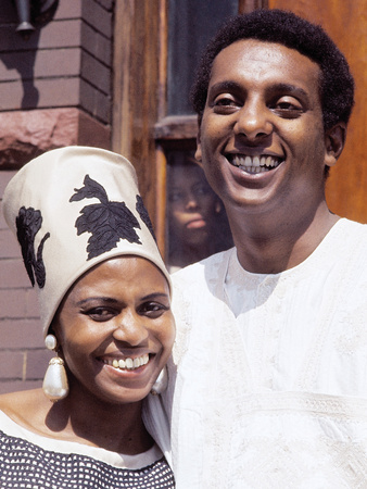 Famed South African Singer Miriam Makeba, with New Husband Stokely Carmichael, May 1968 Stretched Canvas Print