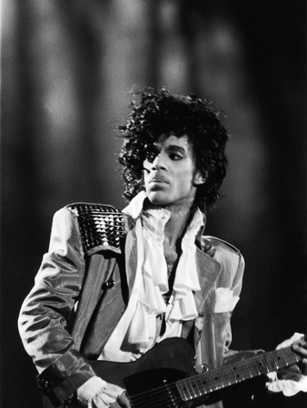 Prince, Concert Performance, 1984 Photo Stretched Canvas Print
