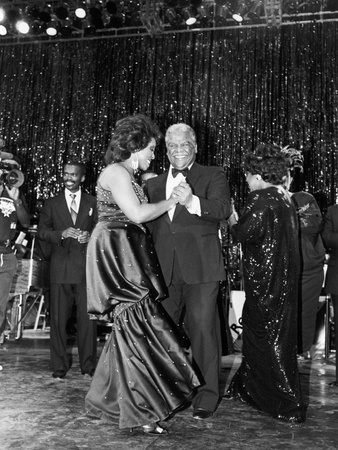Harold Washington and Gladys Knight Dance,   New Regal Theater in Chicago, 1987 Stretched Canvas Print