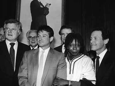 Whoopi Goldberg and Her Comic Relief Cohorts, March 12, 1986 Stretched Canvas Print