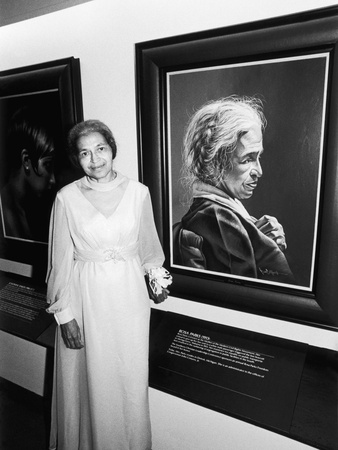 Rosa Parks,   Salute to Black Women in Art, 1978 Stretched Canvas Print