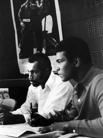 Muhammad Ali and Ken Norton, March of 1973 Stretched Canvas Print