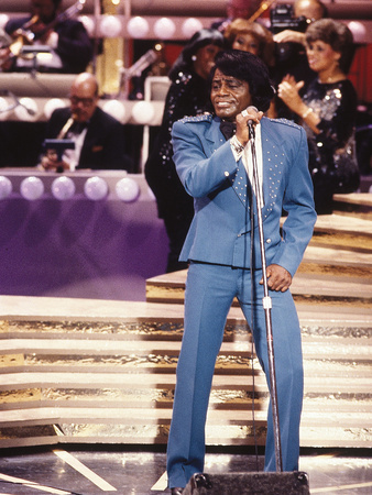 James Brown Performing Stretched Canvas Print