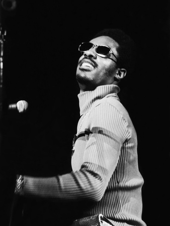 Stevie Wonder Performs in Concert Stretched Canvas Print
