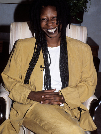 Whoopi Goldberg, 1988 Stretched Canvas Print
