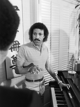 Lionel Richie, 1982 Stretched Canvas Print