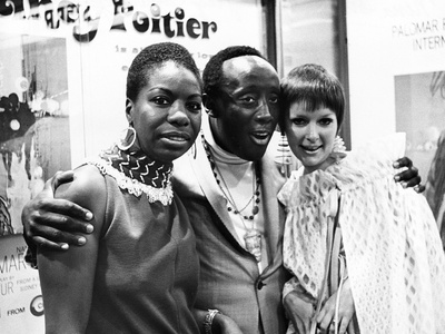 Nina Simone, Godfrey Cambridge, and Jane Saxon - 1968 Stretched Canvas Print