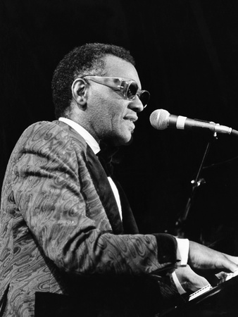 Ray Charles 1977 Stretched Canvas Print