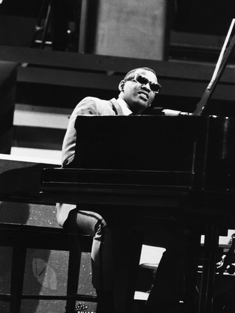 Ray Charles 1965 Stretched Canvas Print