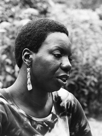 Nina Simone - 1971 Stretched Canvas Print