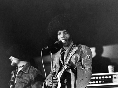 Sly Stone Stretched Canvas Print