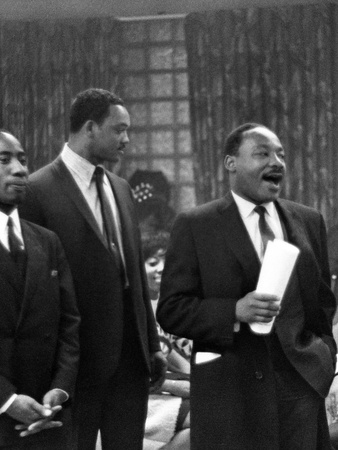 Dr. Martin Luther King Jr. and Jesse Jackson Stretched Canvas Print