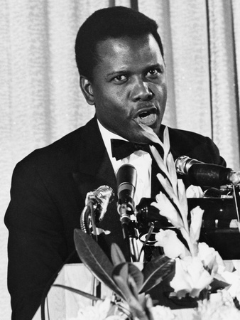 Sidney Poitier - 1967 Stretched Canvas Print
