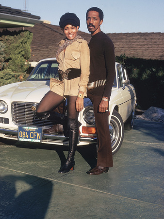 Tina and Ike Turner - 1971 Stretched Canvas Print