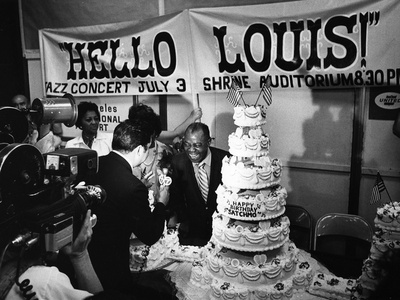 Louis Armstrong Birthday Celebration -1970 Stretched Canvas Print