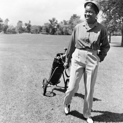 Sarah Vaughan on Golf Course Stretched Canvas Print